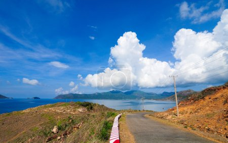 Road to the mountain in Con Dao island