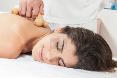 Woman gets a massage