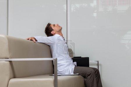 young Ophthalmologist resting