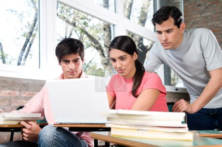 students using laptop