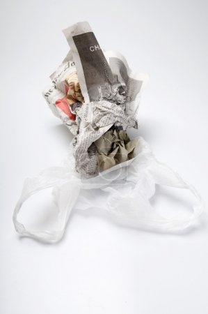 Recycle paper and plastic bag