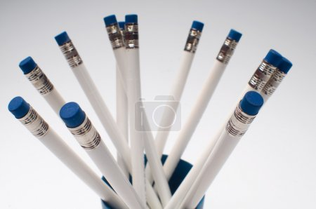 white Pencicls in holder