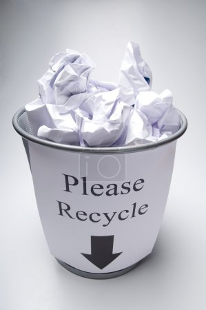 bin with please recycle words