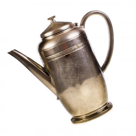 Old silver teapot