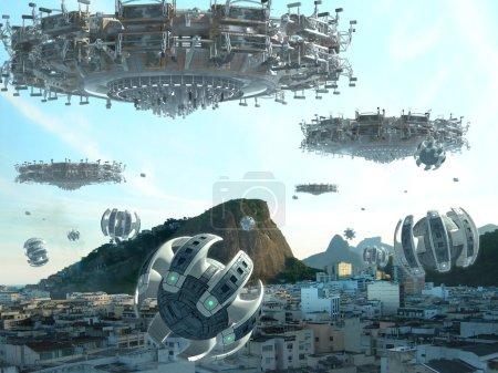 UFO fleet invading Rio De Janeiro