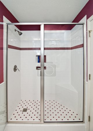 élégante douche moderne