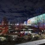 Park and botanical gardens in oklahoma city at nig...