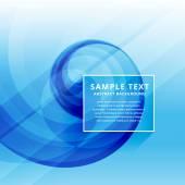 Krásné čisté minimální modré obchodní wave design