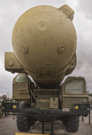 Army truck nuclear rocket launcher