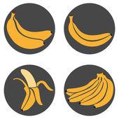 Set of Banana Icons