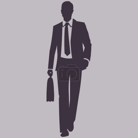 Silhouette of Business Man.