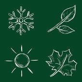 Vector Set of Chalk Season Icons