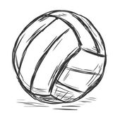 Single Sketch Volleyball Ball