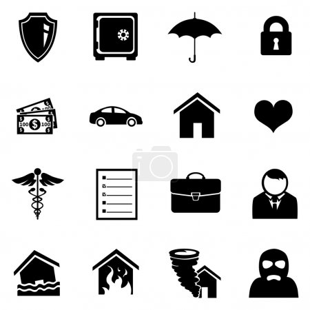 Set of Insurance Icons