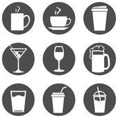 Sada ikon, nápoje