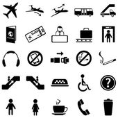Set of 25 Airport Icons