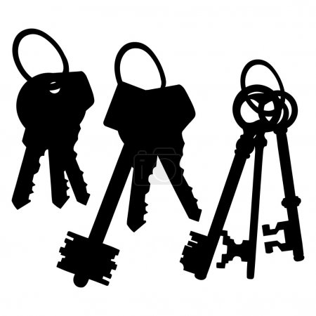 Set of Silhouette Keys Bunches