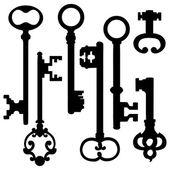 Set of Silhouette Antique Keys