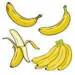 Постер, плакат: Cartoon Yellow Bananas