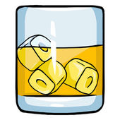 Cartoon Glass of Whiskey