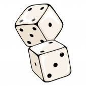 Cartoon Two Dices