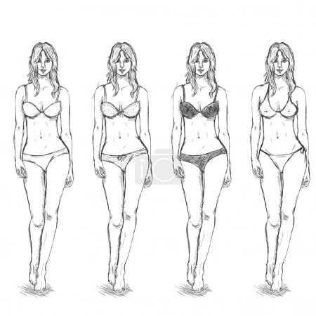 Sketch Female Models.