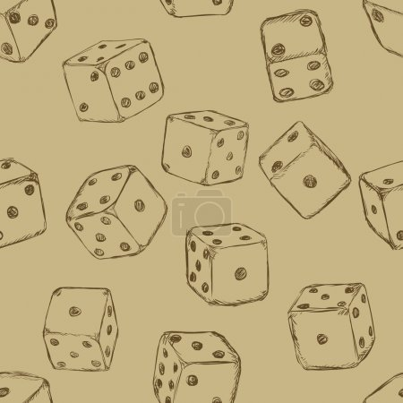 Background of Cartoon Dices