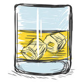 Sketch Glass of Whiskey