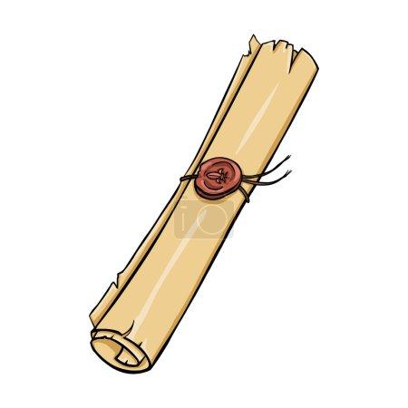 Illustration pour Défilement de bande dessinée vectoriel unique - image libre de droit