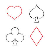 Playing Cards Suits Signs