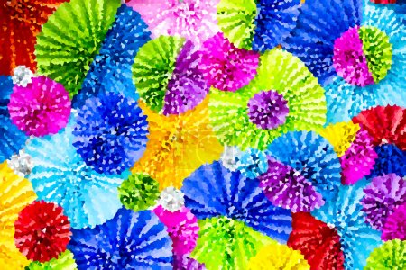 Photo for Colourful dot background,abstract background - Royalty Free Image