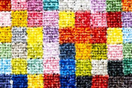 Photo pour Jeu de tuile de modèle, les carreaux de céramique colorée - image libre de droit
