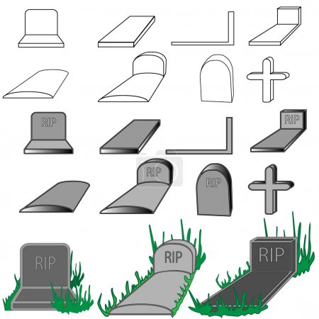 Grave stone isolated...