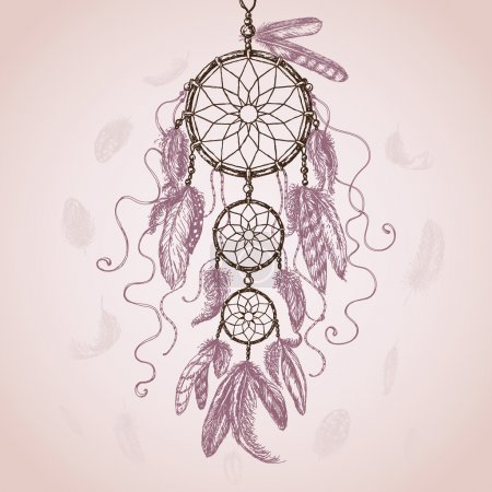 Hand Drawn Dream Catcher.