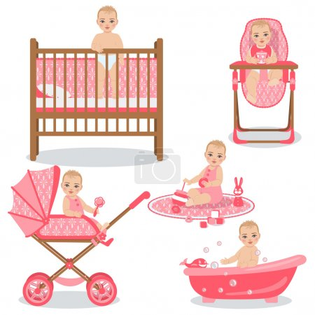 Cute Baby Girl Set.