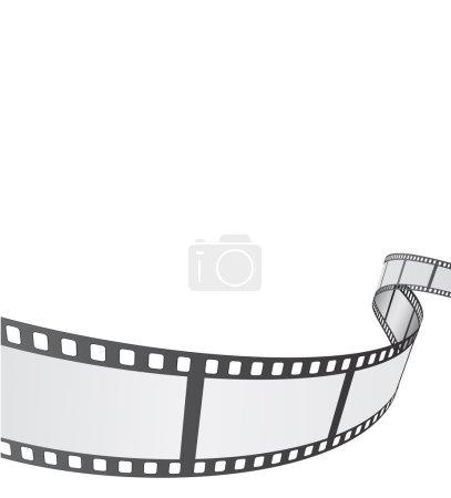Illustration pour Bobine de film fond design - image libre de droit