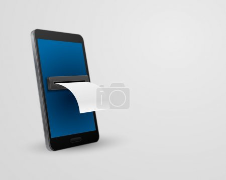 smartphone with bill check 3d