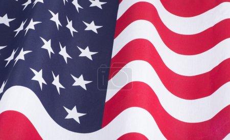 Photo pour Agrandi le drapeau des États-Unis d'Amérique - image libre de droit