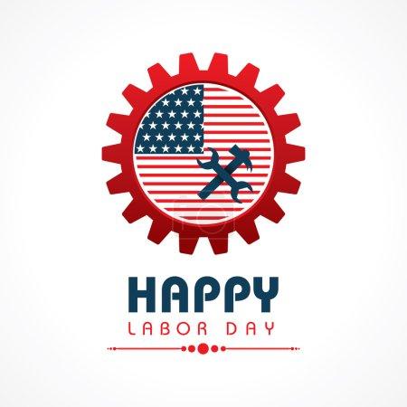 Creative happy labor day greeting