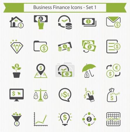 Photo pour Finances d'entreprise & Icônes personnelles ensemble. Cet ensemble d'icônes peut être utilisé pour concevoir et développer des sites Web, ainsi que des documents imprimés et des présentations . - image libre de droit