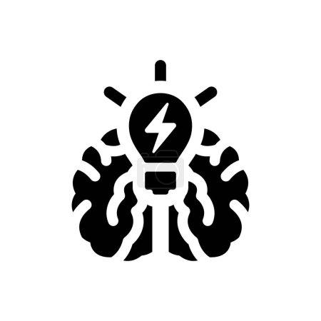 Brain idea icon. Vector EPS file....