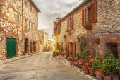 Old Tuscany Town in spring time