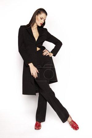 Beautiful elegant brunette woman