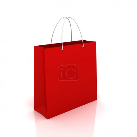 single shopping bag concept  3d illustration