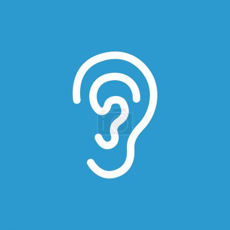 ear icon, white on the blue background