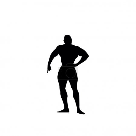 Bodybuilders silhouette