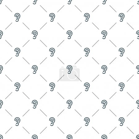 Illustration for Vector seamless pattern, ear, Editable can be used for web page backgrounds, pattern fills - Royalty Free Image