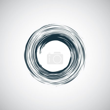 Illustration for Abstract circle icon, isolated, black on the white background. Vector - Royalty Free Image
