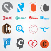 Set of alphabet symbols of letter C
