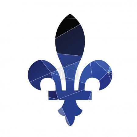 fleur-de-lys icon Abstract Triangle
